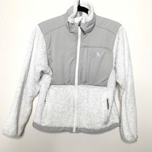 The North Face Gray Osito Fuzzy Jacket Sz XS